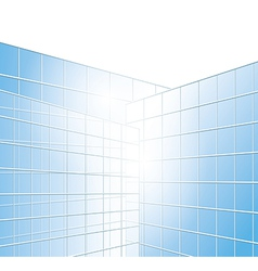 wall of buildings - blue windows vector image
