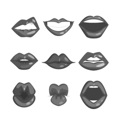 Woman lips silhouette vector image