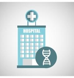 DNA science hospital building icon medicine vector image
