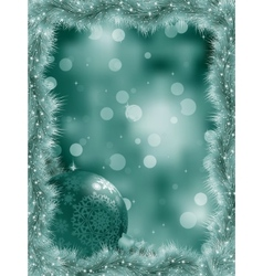 Elegant christmas snowflakes tree branches EPS 8 vector image