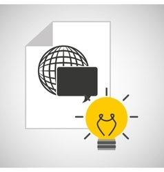 idea code web programming globe vector image vector image