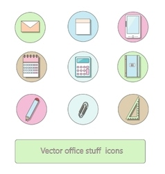Office stuff icon set vector image vector image