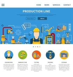 Production Line Page vector image