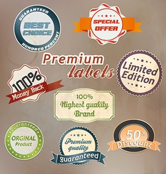 retro label colection 2 vector image
