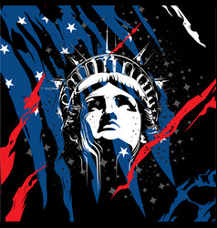 statue of liberty head vector image vector image