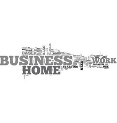 work at home business text word cloud concept vector image vector image