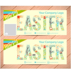 background Happy Easter vector image