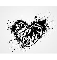 broken heart grunge vector image vector image
