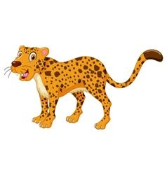 cute cheetah cartoon posing vector image vector image