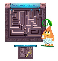 find the right way Greece vector image