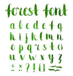 Hand drawn regular bold grunge font vector image
