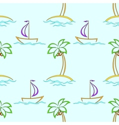 islands and ships vector image