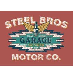 Motor company vintage sign vector image