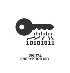 digital encryption key icon vector image vector image