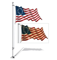 Flag Pole USA Betsy Ross vector image