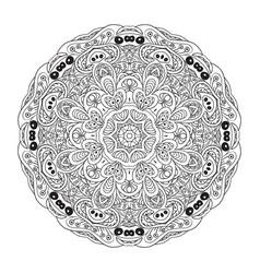 mandala eastern coloring pattern zentangl round vector image vector image