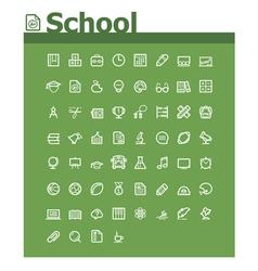 School icon set vector