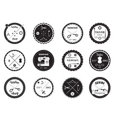 set of tailor logos labels emblems and designed vector image