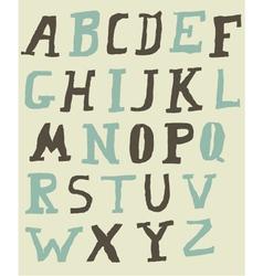 Vintage Alphabet vector image