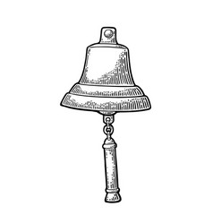 Bell from sailing ship isolated white background vector
