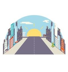 City flat vector image vector image