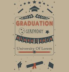 graduation of year 2018 vector image vector image