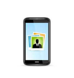 Icon Touchscreen Smart Phone vector image