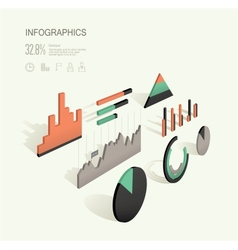 Infographic 3d vector