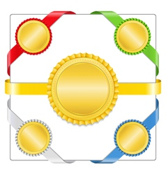 Ribbons with medals vector image vector image