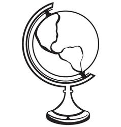 Silhouette globe vector image vector image