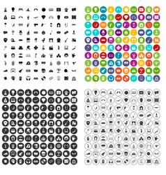 100 recreational activities icons set vector
