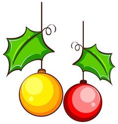 A simple coloured drawing of a Christmas decor vector