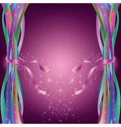 Abstract background with colorful ribbons vector