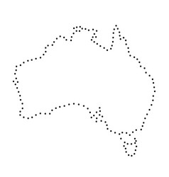 abstract schematic map of australia from the vector image