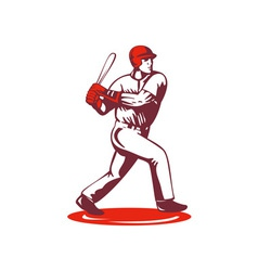 Baseball Player Retro vector