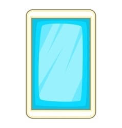 Blue smartphone icon cartoon style vector