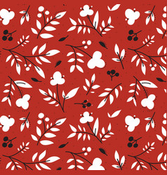 botanical pattern vector image