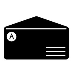 brand envelope icon simple style vector image
