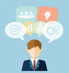 Businessman idea vector