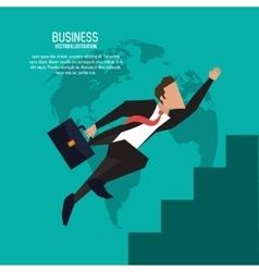 Businessman suitcase suit business icon vector