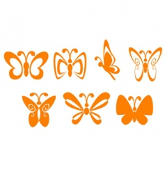 butterfly symbols vector image vector image