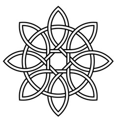 celtic knot petals and circle nature and vector image