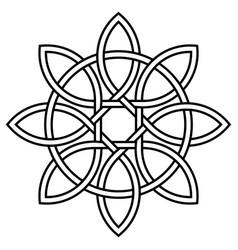 Celtic knot petals and circle nature vector