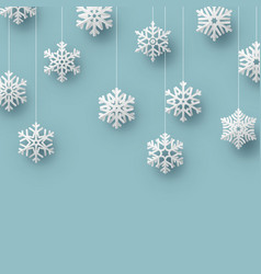 christmas origami snowflake card template eps 10 vector image