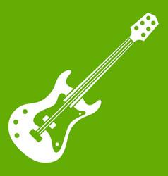 Classical electric guitar icon green vector