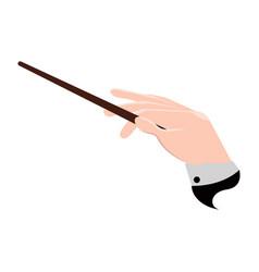 conductor hand icon vector image