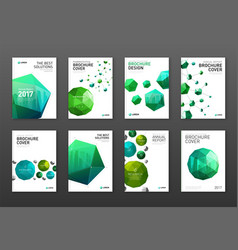 Corporate brochure cover design templates set vector