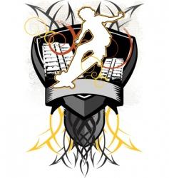 design heraldry vector image
