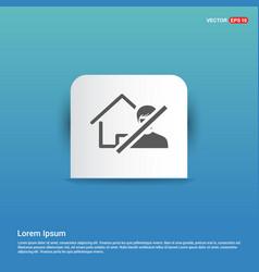 Do not enter icon - blue sticker button vector