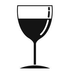 drink wine glass icon simple style vector image